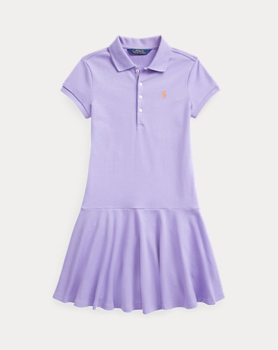 폴로 랄프로렌 걸즈 폴로 원피스 Polo Ralph Lauren Stretch Mesh Polo Dress,Hyacinth