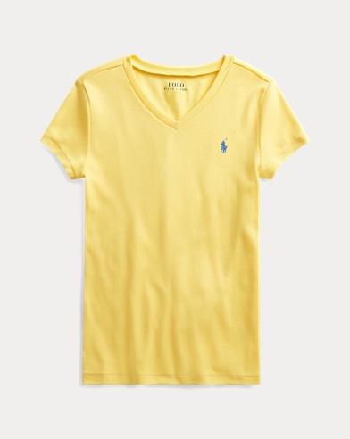 폴로 랄프로렌 Polo Ralph Lauren Cotton-Modal V-Neck Tee,Sunfish Yellow