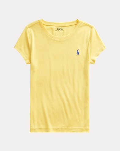 폴로 랄프로렌 걸즈 크루넥 티셔츠 Polo Ralph Lauren Cotton-Modal Crewneck Tee,Sunfish Yellow