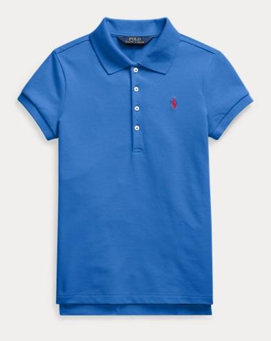폴로 랄프로렌 걸즈 폴로 셔츠 Polo Ralph Lauren Stretch Cotton Mesh Polo,Colby Blue