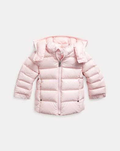 폴로 랄프로렌 베이비 걸 후드 패딩 - 핑크 Polo Ralph Lauren Hooded Down Jacket