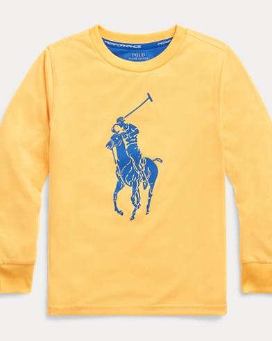 폴로 랄프로렌 남아용 빅포니 긴팔 티셔츠 Polo Ralph Lauren Big Pony Performance Tee,Gold Bugle