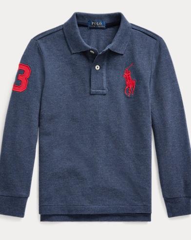 폴로 랄프로렌 남아용 폴로 셔츠 Polo Ralph Lauren Cotton Mesh Polo Shirt,Basic Navy Heather
