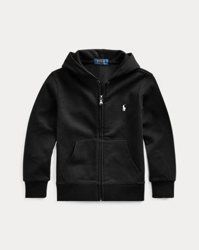 폴로 랄프로렌 남아용 후드 티셔츠 Polo Ralph Lauren Double-Knit Full-Zip Hoodie,Polo Black