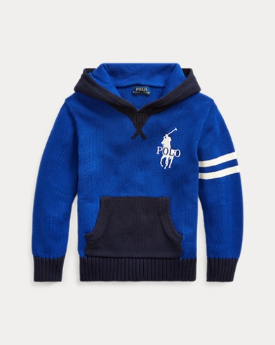 폴로 랄프로렌 남아용 후드 스웨터 Polo Ralph Lauren Cotton Hooded Sweater,Heritage Royal