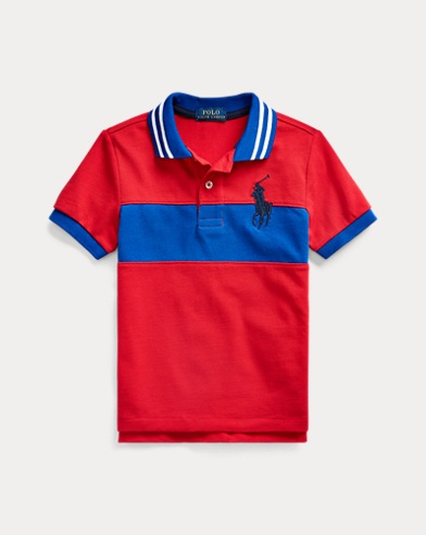 폴로 랄프로렌 남아용 폴로 셔츠 Polo Ralph Lauren Embroidered Cotton Mesh Polo,RL 2000 Red