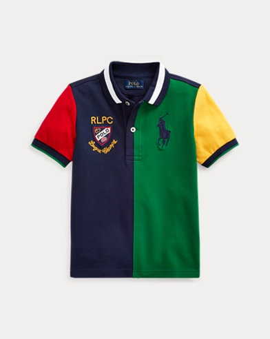 폴로 랄프로렌 남아용 폴로 셔츠 Polo Ralph Lauren Color-Blocked Cotton Mesh Polo,Athletic Green