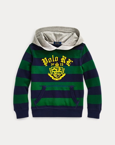 폴로 랄프로렌 Polo Ralph Lauren Cotton Mesh Graphic Hoodie,Athletic Green