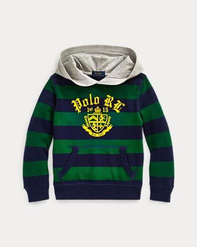 폴로 랄프로렌 남아용 후드 티셔츠 Polo Ralph Lauren Cotton Mesh Graphic Hoodie,Athletic Green