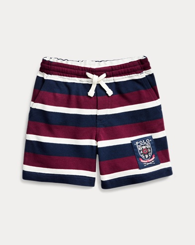 폴로 랄프로렌 남아용 반바지 Polo Ralph Lauren Striped Cotton Mesh Short,Classic Wine Multi