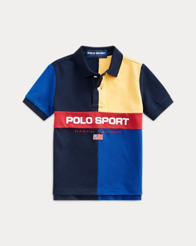 폴로 랄프로렌 남아용 폴로 셔츠 Polo Ralph Lauren Polo Sport Cotton Mesh Polo,Cruise Navy Multi