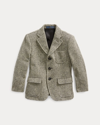 폴로 랄프로렌 보이즈 코트 Polo Ralph Lauren Herringbone Sport Coat,Black/ Cream