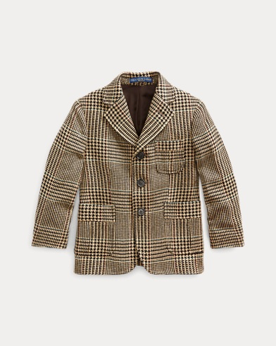 폴로 랄프로렌 Polo Ralph Lauren Plaid Wool-Silk Sport Coat,Multi