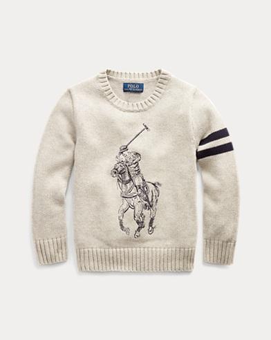 폴로 랄프로렌 Polo Ralph Lauren Big Pony Cotton Sweater,Dark Sport Heather