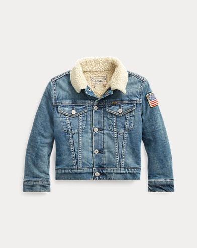 폴로 랄프로렌 남아용 자켓 Polo Ralph Lauren Fleece-Lined Trucker Jacket,Bassett Sherpa Wash