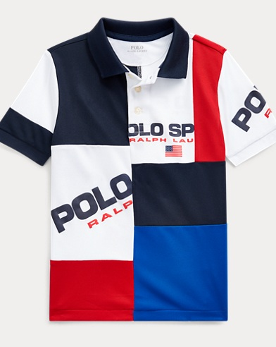 폴로 랄프로렌 남아용 Polo Ralph Lauren Polo Sport Performance Polo,Cruise Navy Multi