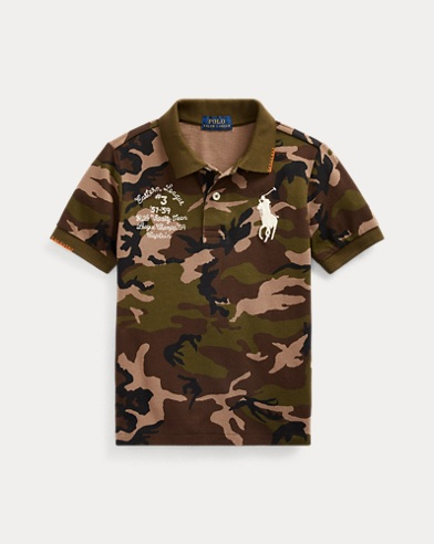 폴로 랄프로렌 남아용 폴로 셔츠 Polo Ralph Lauren Big Pony Camo Cotton Mesh Polo,Surplus Camo