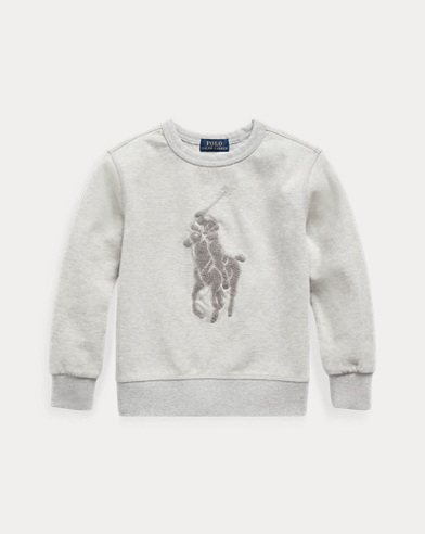 폴로 랄프로렌 Polo Ralph Lauren Cotton-Blend Sweatshirt,Light Grey Heather