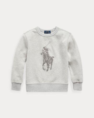 폴로 랄프로렌 남아용 스웻셔츠 Polo Ralph Lauren Cotton-Blend Sweatshirt,Light Grey Heather