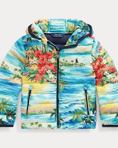폴로 랄프로렌 보이즈 자켓 Polo Ralph Lauren Hawaiian-Print Down Jacket,Hawaiian Print