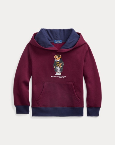 폴로 랄프로렌 Polo Ralph Lauren Football Bear Fleece Hoodie,Classic Wine