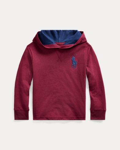폴로 랄프로렌 Polo Ralph Lauren Cotton Jersey Hooded Tee,Classic Wine