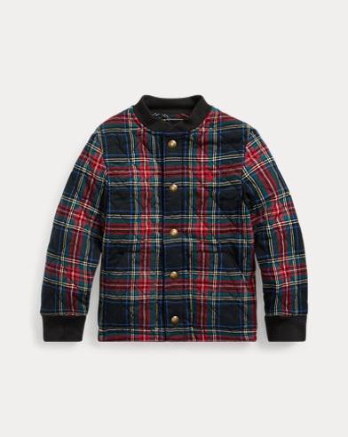 폴로 랄프로렌 남아용 플레이드 자켓 Polo Ralph Lauren Plaid Cotton Twill Jacket,Royal/Black Multi