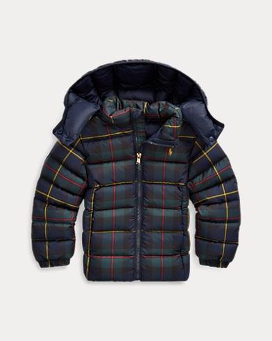 폴로 랄프로렌 여아용 다운 자켓 Polo Ralph Lauren Tartan Quilted Down Jacket,Navy Green Multi
