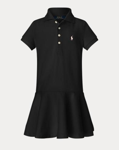 폴로 랄프로렌 Polo Ralph Lauren Stretch Cotton Mesh Polo Dress,Collection Black