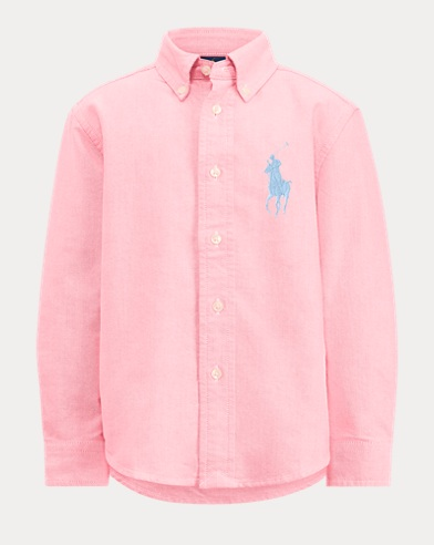 폴로 랄프로렌 Polo Ralph Lauren Big Pony Cotton Oxford Shirt,Pink