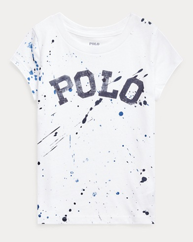 폴로 랄프로렌 Polo Ralph Lauren Logo Cotton Jersey Tee,White