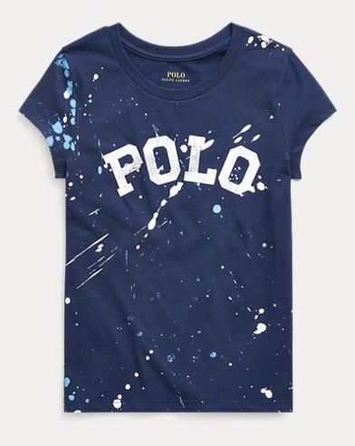 폴로 랄프로렌 Polo Ralph Lauren Logo Cotton Jersey Tee,Navy