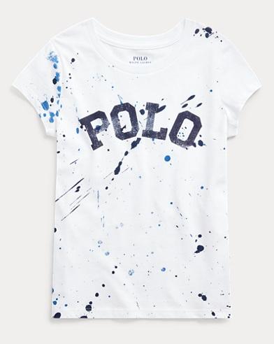 폴로 랄프로렌 Polo Ralph Lauren Logo Cotton Jersey Tee,White