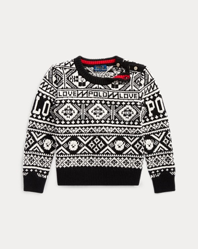 폴로 랄프로렌 여아용 스웨터 Polo Ralph Lauren Fair Isle Intarsia Sweater,Polo Black Multi