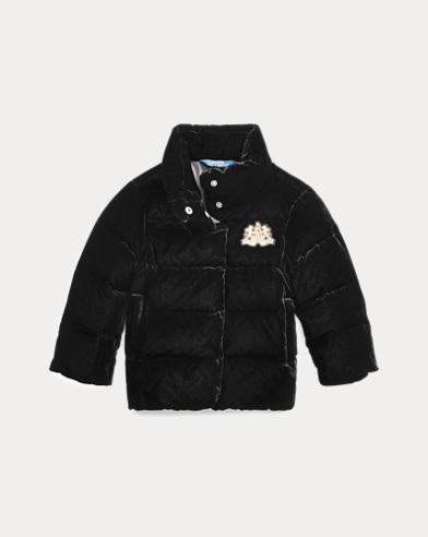 폴로 랄프로렌 여아용 다운 자켓 Polo Ralph Lauren Quilted Velvet Down Jacket,Polo Black