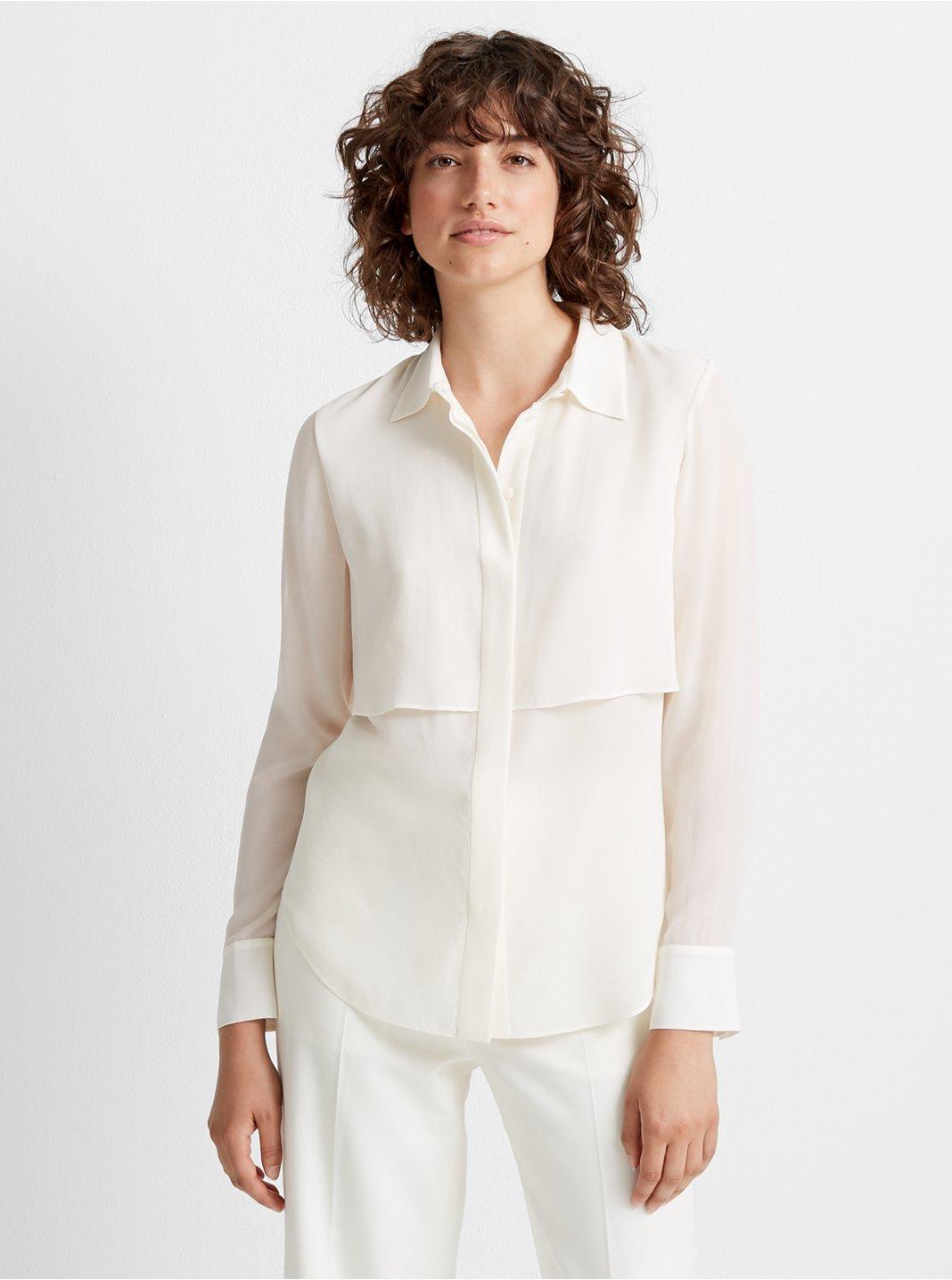 클럽 모나코 실크 셔츠 Club Monaco Bernee Silk Shirt