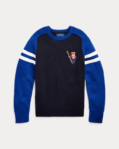 폴로 랄프로렌 보이즈 스웨터 Polo Ralph Lauren Ski Bear Cotton Sweater,RL Navy Multi