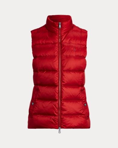 폴로 랄프로렌 우먼 발몬트 다운 조끼 - 메디슨 레드 Polo Ralph Lauren Belmont Down-Fill Vest