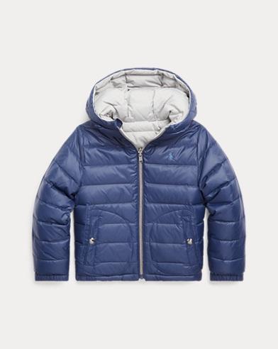 폴로 랄프로렌 남아용 양면 숏패딩 Polo Ralph Lauren Reversible Quilted Down Jacket,French Navy/Grey