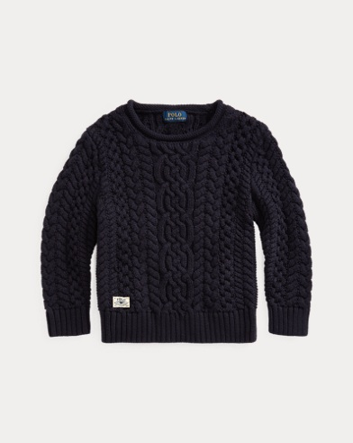 폴로 랄프로렌 남아용 스웨터 Polo Ralph Lauren Aran-Knit Cotton Sweater,RL Navy