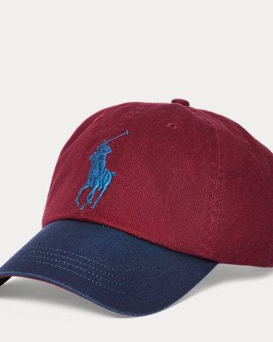 폴로 랄프로렌 Polo Ralph Lauren Cotton Chino Baseball Cap,Classic Wine