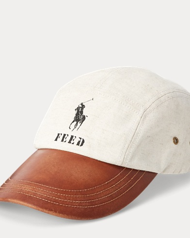 폴로 랄프로렌 Polo Ralph Lauren Polo x FEED Long-Bill Cap,Natural/Brown