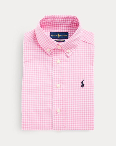 폴로 랄프로렌 Polo Ralph Lauren Gingham Cotton Poplin Shirt,Pink Multi