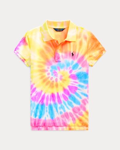 폴로 랄프로렌 걸즈 폴로 셔츠 Polo Ralph Lauren Tie-Dyed Mesh Polo Shirt,Tie Dye