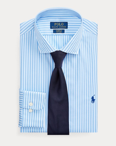 폴로 랄프로렌 Polo Ralph Lauren Classic Fit Striped Shirt,Azure/White