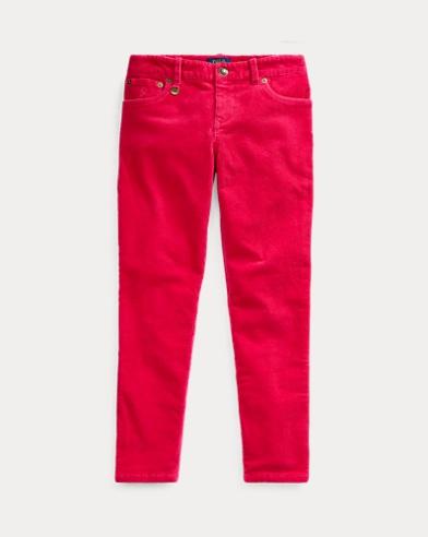 폴로 랄프로렌 Polo Ralph Lauren Stretch Skinny Corduroy Pant,Sport Pink