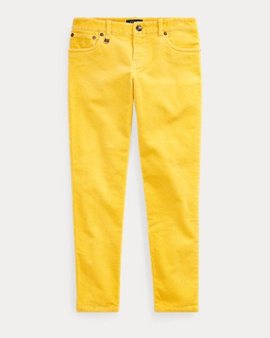 폴로 랄프로렌 Polo Ralph Lauren Stretch Skinny Corduroy Pant,Chrome Yellow