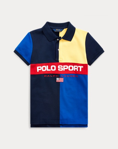 폴로 랄프로렌 걸즈 폴로 셔츠 Polo Ralph Lauren Polo Sport Cotton Mesh Polo,Colby Blue