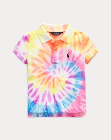 폴로 랄프로렌 Polo Ralph Lauren Tie-Dyed Mesh Polo Shirt,Tie Dye