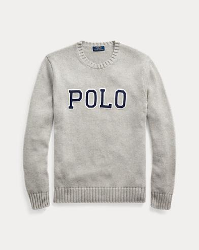 폴로 랄프로렌 맨 로고 스웨터 - 앤도버 헤더 Polo Ralph Lauren Logo Crewneck Sweater,Andover Heather